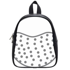 Cool Gel Foam Circle Grey School Bags (small)  by Alisyart