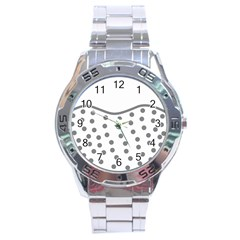 Cool Gel Foam Circle Grey Stainless Steel Analogue Watch by Alisyart