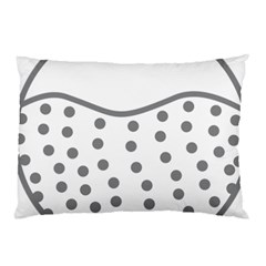 Cool Gel Foam Circle Grey Pillow Case (two Sides)
