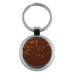 Brown Sequins Background Key Chains (round)  by Simbadda