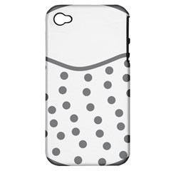 Cool Gel Foam Circle Grey Apple Iphone 4/4s Hardshell Case (pc+silicone) by Alisyart
