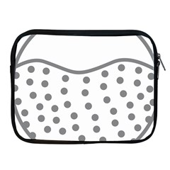 Cool Gel Foam Circle Grey Apple Ipad 2/3/4 Zipper Cases by Alisyart