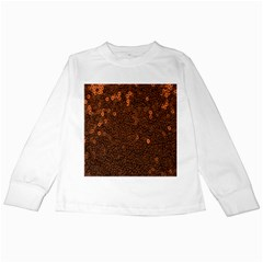Brown Sequins Background Kids Long Sleeve T Shirts