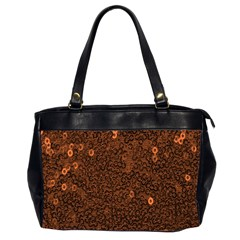 Brown Sequins Background Office Handbags (2 Sides)