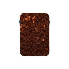 Brown Sequins Background Apple Ipad Mini Protective Soft Cases by Simbadda