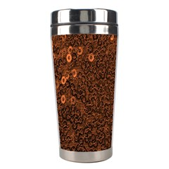 Brown Sequins Background Stainless Steel Travel Tumblers by Simbadda