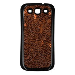 Brown Sequins Background Samsung Galaxy S3 Back Case (black) by Simbadda