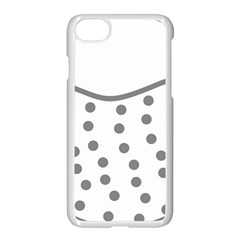 Cool Gel Foam Circle Grey Apple Iphone 7 Seamless Case (white) by Alisyart