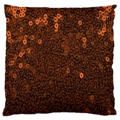 Brown Sequins Background Large Flano Cushion Case (one Side)