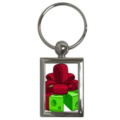 Cheese Green Key Chains (rectangle)  by Alisyart