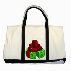Cheese Green Two Tone Tote Bag by Alisyart