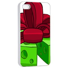 Cheese Green Apple Iphone 4/4s Seamless Case (white) by Alisyart