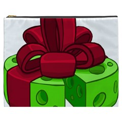 Cheese Green Cosmetic Bag (xxxl)