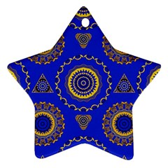 Abstract Mandala Seamless Pattern Star Ornament (two Sides)