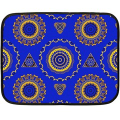 Abstract Mandala Seamless Pattern Double Sided Fleece Blanket (mini)