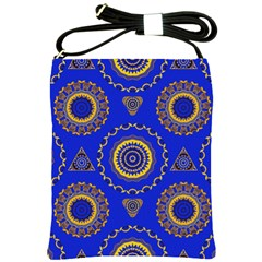 Abstract Mandala Seamless Pattern Shoulder Sling Bags