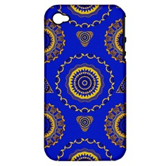 Abstract Mandala Seamless Pattern Apple Iphone 4/4s Hardshell Case (pc+silicone) by Simbadda