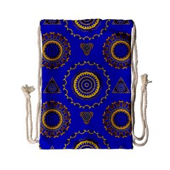 Abstract Mandala Seamless Pattern Drawstring Bag (small) by Simbadda