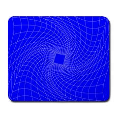 Blue Perspective Grid Distorted Line Plaid Large Mousepads by Alisyart