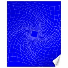 Blue Perspective Grid Distorted Line Plaid Canvas 16  X 20   by Alisyart