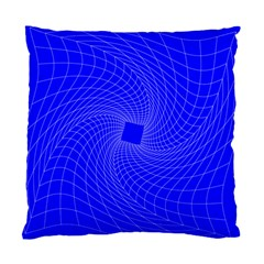 Blue Perspective Grid Distorted Line Plaid Standard Cushion Case (two Sides) by Alisyart