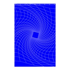 Blue Perspective Grid Distorted Line Plaid Shower Curtain 48  X 72  (small)  by Alisyart