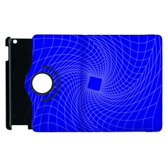 Blue Perspective Grid Distorted Line Plaid Apple Ipad 3/4 Flip 360 Case by Alisyart