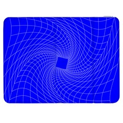 Blue Perspective Grid Distorted Line Plaid Samsung Galaxy Tab 7  P1000 Flip Case