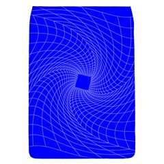 Blue Perspective Grid Distorted Line Plaid Flap Covers (l)  by Alisyart