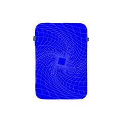 Blue Perspective Grid Distorted Line Plaid Apple Ipad Mini Protective Soft Cases by Alisyart