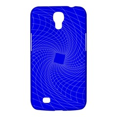 Blue Perspective Grid Distorted Line Plaid Samsung Galaxy Mega 6 3  I9200 Hardshell Case by Alisyart