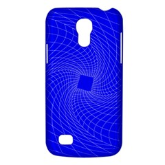 Blue Perspective Grid Distorted Line Plaid Galaxy S4 Mini