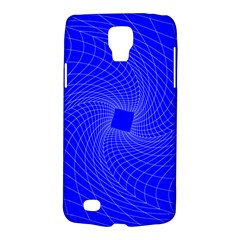 Blue Perspective Grid Distorted Line Plaid Galaxy S4 Active by Alisyart