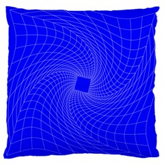 Blue Perspective Grid Distorted Line Plaid Standard Flano Cushion Case (one Side) by Alisyart