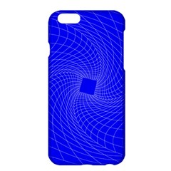 Blue Perspective Grid Distorted Line Plaid Apple Iphone 6 Plus/6s Plus Hardshell Case