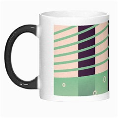 Day Sea River Bridge Line Water Morph Mugs by Alisyart