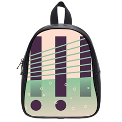 Day Sea River Bridge Line Water School Bags (small)  by Alisyart