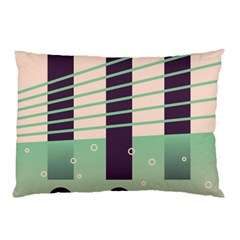 Day Sea River Bridge Line Water Pillow Case (two Sides) by Alisyart