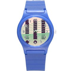Day Sea River Bridge Line Water Round Plastic Sport Watch (s) by Alisyart