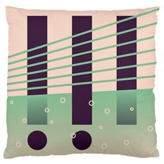Day Sea River Bridge Line Water Large Cushion Case (one Side) by Alisyart