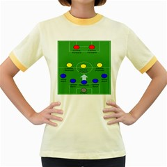 Field Football Positions Women s Fitted Ringer T Shirts