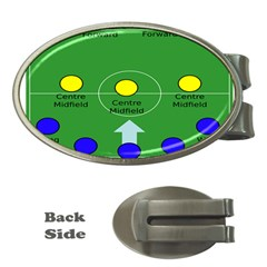 Field Football Positions Money Clips (oval)  by Alisyart