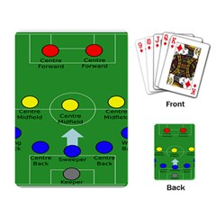 Field Football Positions Playing Card by Alisyart