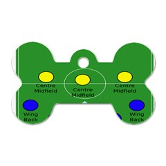 Field Football Positions Dog Tag Bone (two Sides)