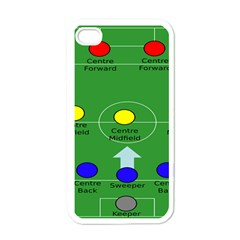 Field Football Positions Apple Iphone 4 Case (white) by Alisyart