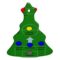 Field Football Positions Ornament (christmas Tree)  by Alisyart