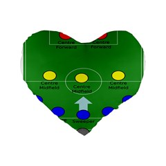 Field Football Positions Standard 16  Premium Flano Heart Shape Cushions by Alisyart