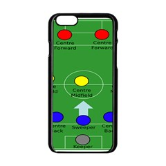 Field Football Positions Apple Iphone 6/6s Black Enamel Case