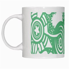 Fish Star Green White Mugs by Alisyart