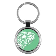 Fish Star Green Key Chains (round)  by Alisyart